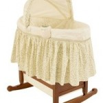 rocking wooden bassinet