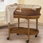 vintage wooden bassinet
