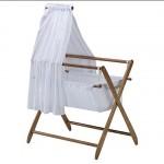 wooden teak bassinet